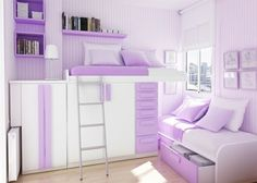 If I had another child, this is what their room would look like. And for the boys sake, I'd probably wish for a girl. LOVE the PURPLE.