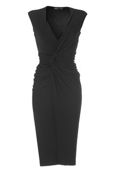 DONNA KARAN This is a great basic black dress to have in your wardrobe.