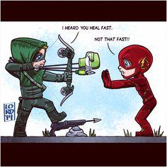 Arrow and Flash.