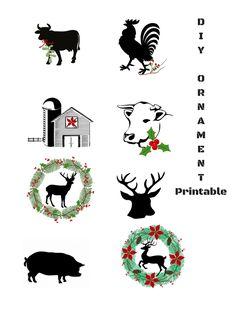 DIY rustic farmhouse Christmas Ornaments - Debbiedoos