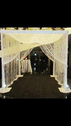 #chuppah #ceremony #glitz #diamond #rhinestone