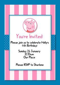 MDS Peppa Pig Party Invite Peppa Pig-001 www.magpiecreates.com