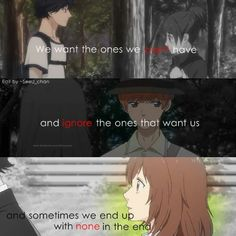 Anime : blue spring ride (She does end up with the one she supposedly can't have in the end)