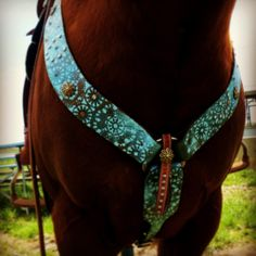 Kahlis Creations hand painted breast collar - #HorseTack