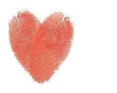 fingerprint heart be cute on wedding invites