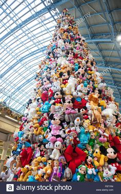 Image result for christmas tree made of plush toys