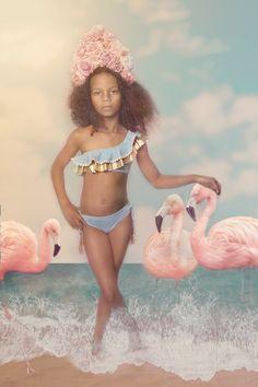 57e94ceb475cb NESSI BYRD Kids 2019 - Scilla blue and gold 2 pieces bikini with soutache  details www.nessibyrd.com