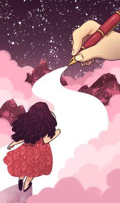 """""""Choices and Fate"""" Illustration for Il Corriere della Sera"""