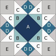 Resplendent Sew A Block Quilt Ideas. Magnificent Sew A Block Quilt Ideas. Quilt Square Patterns, Barn Quilt Patterns, Pattern Blocks, Square Quilt, Patchwork Patterns, Big Block Quilts, Star Quilt Blocks, 24 Blocks, Colchas Quilting