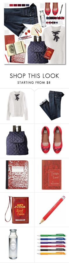 """""""Library Chic"""" by mmk2k ❤ liked on Polyvore featuring LeSportsac, ED Ellen DeGeneres, Pyle, Susquehanna Glass, Paper Mate, Fall, school and librarychic"""
