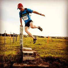 Fence jump at the Sunshine Coast 21km trail run.