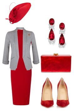 """""""Untitled #716"""" by dawn294210 ❤ liked on Polyvore featuring Getting Back To Square One, Christian Louboutin, Harry Winston, Miss Selfridge, John Lewis and Edie Parker"""