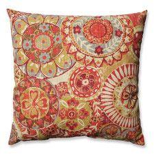 Indira Cardinal Cotton Throw Pillow