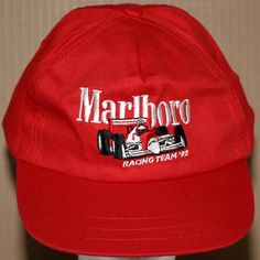 Marlboro Racing Team '92 Embroidered Cap/Hat Adult Size Adjustable Red #Marlboro #BaseballCap