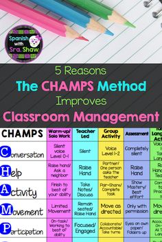 0f0c3a196 5 Reasons the CHAMPS Method Improves Classroom Management Champs Classroom  Management