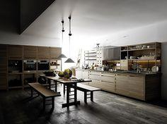 valcucine küchendesign matt grau hochglanz rot akzent, Möbel