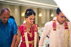 The Wedding Of Chennai's Designer Jeevitha Of DSignD Flower Garland Wedding, Flower Garlands, Saree Dress, Bridal Jewellery, Beautiful Bride, Ducks, Wedding Details, Real Weddings, Groom