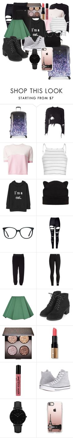 """29. Packing For A Road Trip With Friends"" by fangirlsfandom ❤ liked on Polyvore featuring Heys, adidas Originals, Fendi, Glamorous, Ace, WithChic, adidas, Topshop, Laura Mercier and Bobbi Brown Cosmetics"