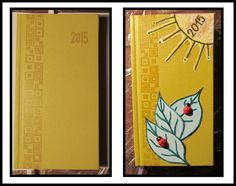 It´s my new diary for year 2015. It was bored and the diary was not what I wanted. Now I´m so happy :)) I´m sorry for my english :) #diary #beforeafter #sun #ladybeetle