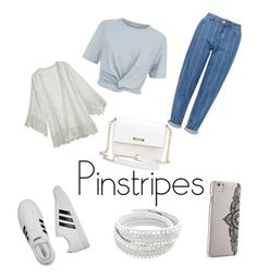 """Pinstripes☀️"" by x-alishha-x on Polyvore featuring Topshop, T By Alexander Wang, adidas, Calypso St. Barth, Nanette Lepore, pinstripes, polyvorecontest and polyvorefashion"