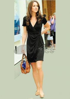 Celebrity Dresses-Charming V-neck Short / Mini Black Celebrity Dresses