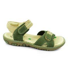 Sandalia Papete Infantil Kidy - 0690114 - Verde Militar