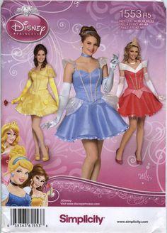 Simplicity 1553 Misses' Disney Princess Costume