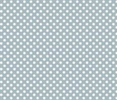 polka dots 2 slate blue and white fabric by misstiina on Spoonflower - custom fabric