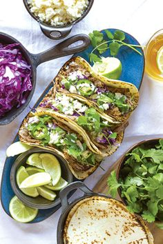 By Maria Nelson Slow-cooked shredded beef tacos are easy to make and are a perfect dish to serve friends and family while watching the Super Bowl Feb. 2.
