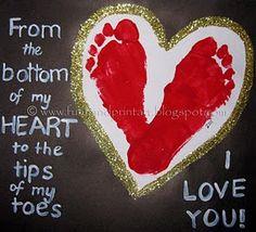 Bottom of my heart footprints