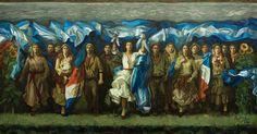 La Constitución Guía al Pueblo. Témpera sobre lienzo.  350 x 650cm. 2011