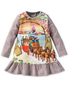 Oilily two horse baby dress.
