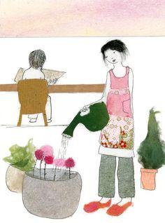 Sumei's Flower Garden by ediblepoetry on Etsy, $5.25