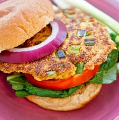 Serve Salmon Patties like you would a burger - with all the fixin's!