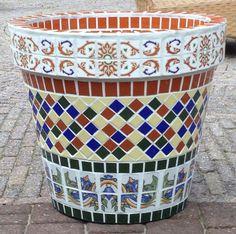 Mozaiek met Spaanse tegels 1