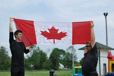 Oh Canada! Travis Gerrits 2014 Olympian from Milton & his father Rob Gerrits at the MSSAB (Milton Stands Strong Against Bullying) Event Saturday July 6th at the Milton Fair Grounds