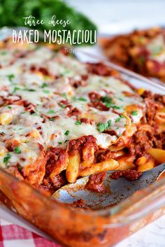This family recipe for three cheese baked mostaccioli is a wonderful cheesy pasta dish the whole Baked Mostaccioli, Pasta Recipes, Baking Recipes, Chicken Recipes, Barilla Recipes, Casserole Recipes, Meat Recipes, Healthy Recipes, Dessert