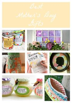 Handmade Mothers Day Gifts... so many great ideas!