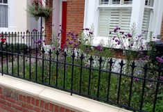 front wall rail garden mosaic victorian tile path balham london (1)