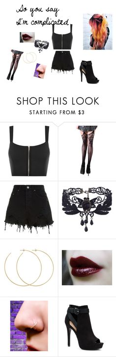 """Confident"" by sorasnow ❤ liked on Polyvore featuring WearAll, Ksubi, Allison Bryan and Apt. 9"