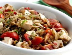 Salada de Lentilha com Cebola Dourada