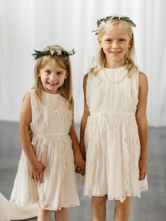 Sweet flower girl pair: http://www.stylemepretty.com/little-black-book-blog/2015/08/25/romantic-industrial-minneapolis-wedding-with-swedish-traditions/   Photography: Geneoh - http://geneoh.com/