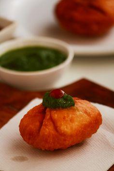 aloo ki kachori recipe - tasty and easy to make snack recipe with potato stuffing.   #indianfood #food #recipes #vegetarian #snack