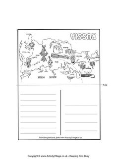 Russian Landmarks Worksheets Russia and Geography