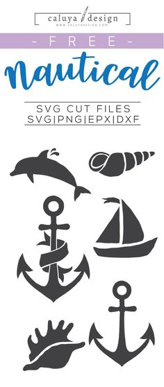 FREE Nautical SVG cut file, Printable vector clip art download. Free printable clip art. Compatible with Cameo Silhouette, Cricut explore and other major cutting machines. 100% for personal use, only $3 for commercial use. Perfect for DIY craft project with Cricut & Cameo Silhouette, card making, scrapbooking, making planner stickers, making vinyl decals, decorating t-shirts with HTV and more! Free anchor SVG, free shea shell SVG, free boat SVG, free dolphin SVG, free Nautical SVG cut file