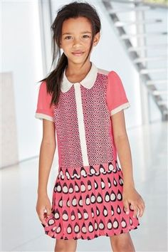 Buy Pink Print Dress from the Next UK online shop Latest Fashion For Women, Kids Fashion, My Little Girl, My Design, Uk Online, Short Sleeve Dresses, Casual, Pink, How To Wear