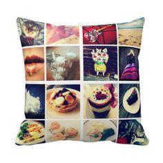 Create Your Own Instagram Photo Throw Pillows
