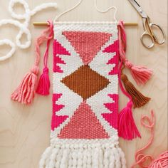 There's a new weaving lesson #ontheblog this morning. So excited to try making patterns! Beautiful job @smileandwave