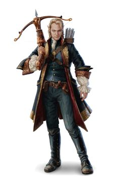 Male Half-Elf Inquisitor of Abadar - Pathfinder PFRPG DND D&D 3.5 5th ed d20 fantasy