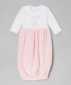 Baby Pink Personalized Initial Gown - Infant